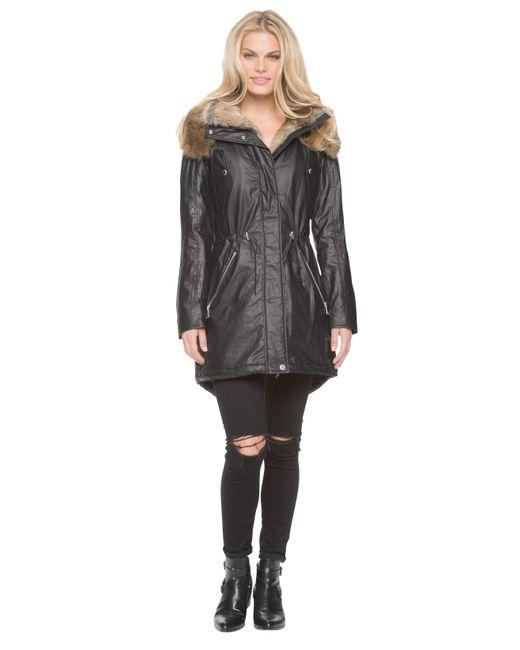 Marc New York | Black Lauren Anorak Coat | Lyst