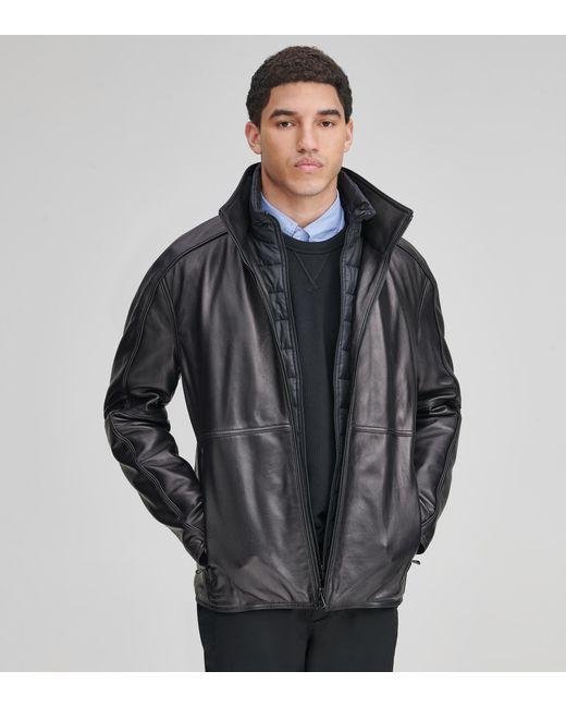 Andrew Marc - Black Hartz Leather Jacket for Men - Lyst