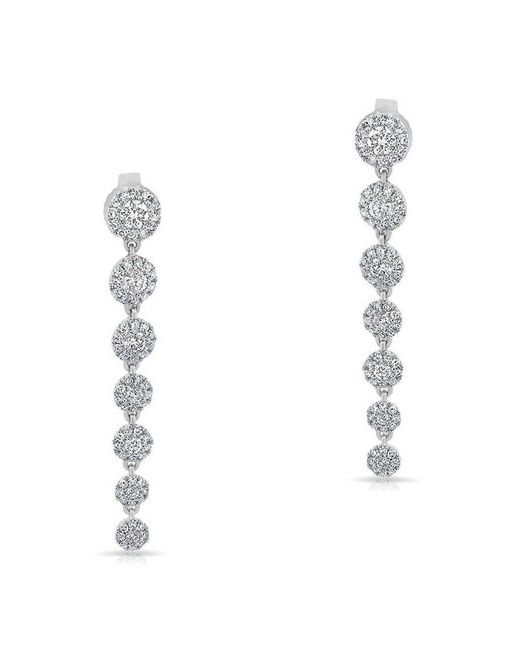 Anne Sisteron - Metallic 14kt White Gold Diamond Francesca Earrings - Lyst
