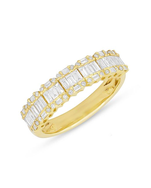 Anne Sisteron - Metallic 14kt Yellow Gold Baguette Diamond Ysabel Ring - Lyst