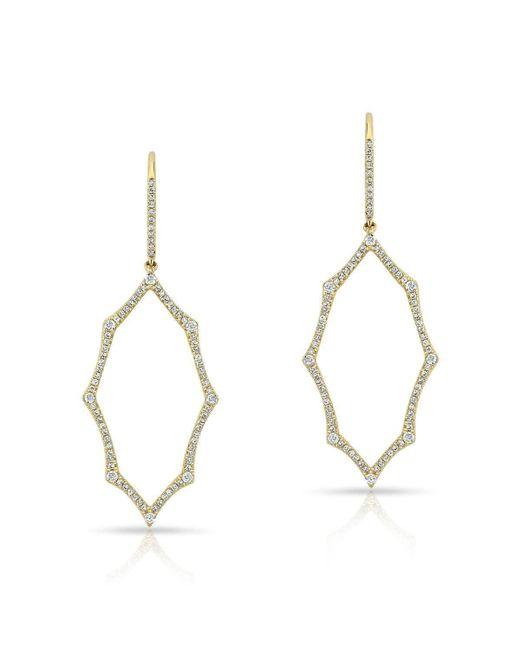 Anne Sisteron - Metallic 14kt Yellow Gold Diamond Open Web Earrings - Lyst