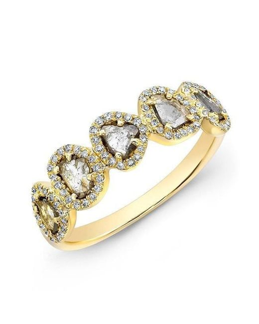 Anne Sisteron - Metallic 14kt Yellow Gold Diamond Slice Princess Ring - Lyst