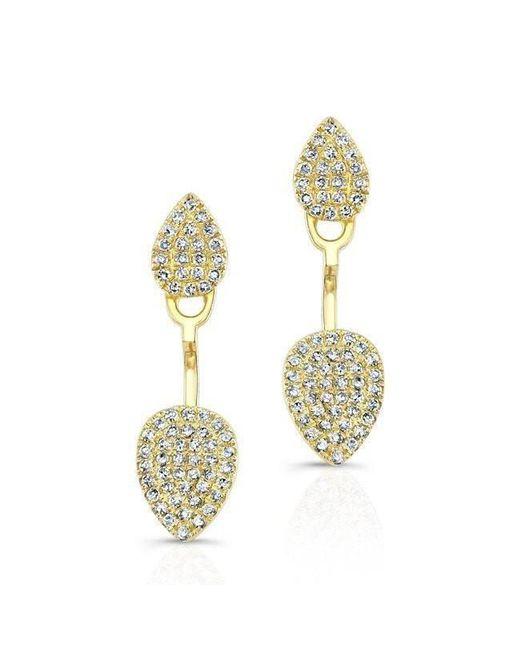 Anne Sisteron - Metallic 14kt Yellow Gold Pear Shaped Floating Earrings - Lyst