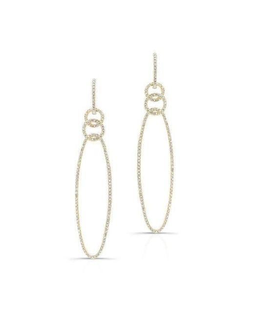 Anne Sisteron | Metallic 14kt Yellow Gold Diamond Chain Link Oval Drop Earrings | Lyst