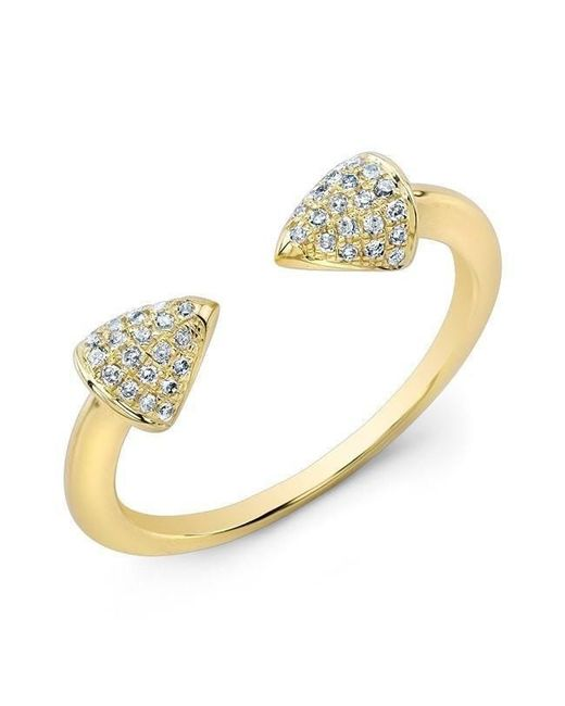 Anne Sisteron - Metallic 14kt Yellow Gold Diamond Toro Ring - Lyst
