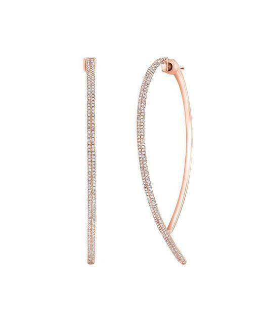 Anne Sisteron - Multicolor 14kt Rose Gold Diamond Audrey Earrings - Lyst