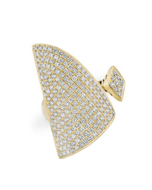 Anne Sisteron - Metallic 14kt Yellow Gold Diamond Valkyrie Ring - Lyst