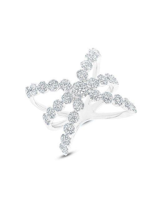 Anne Sisteron - Metallic 14kt White Gold Diamond Harper Ring - Lyst