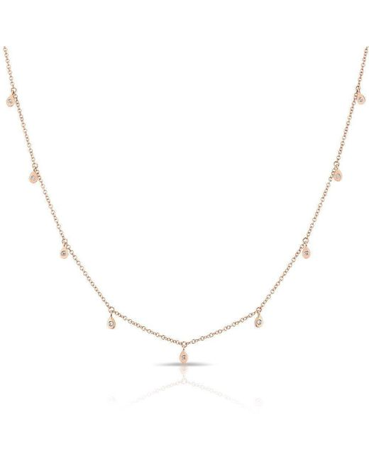 Anne Sisteron - Metallic 14kt Rose Gold Diamond Droplets Necklace - Lyst