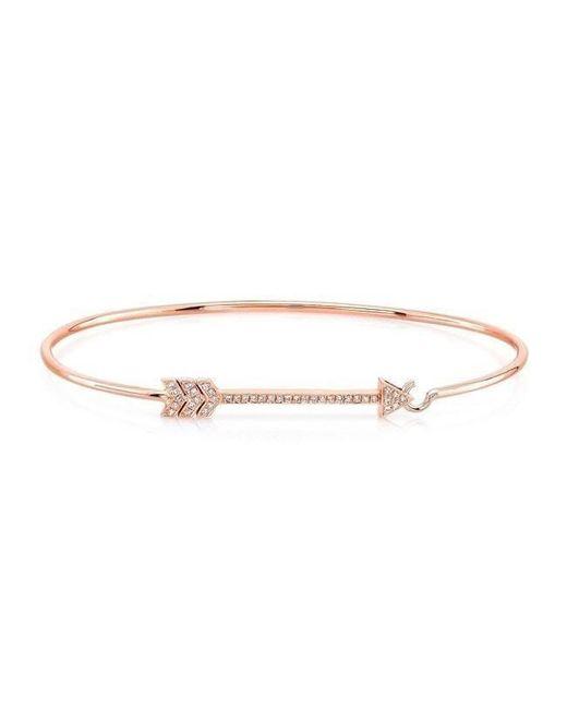 Anne Sisteron - Metallic 14kt Rose Gold Diamond Cupid Bracelet - Lyst