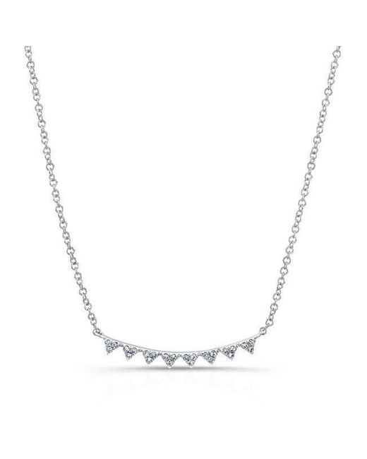 Anne Sisteron - Multicolor 14kt White Gold Diamond Triangle Crescent Necklace - Lyst