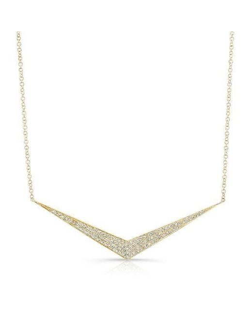 Anne Sisteron - Metallic 14kt Yellow Gold Diamond Chevron Necklace - Lyst