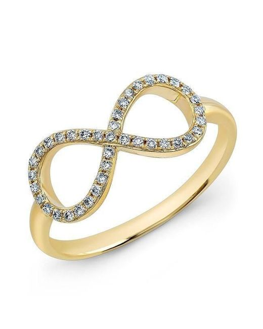 Anne Sisteron - Metallic 14kt Yellow Gold Diamond Large Infinity Ring - Lyst