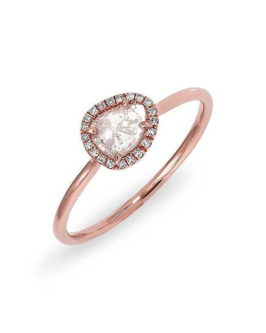 Anne Sisteron | Metallic 14kt Rose Gold Diamond Slice Solace Ring | Lyst