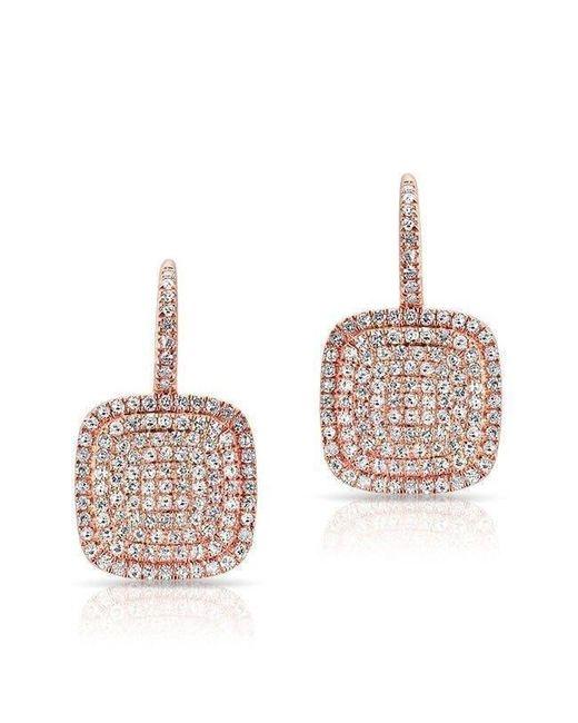 Anne Sisteron - Multicolor 14kt Rose Gold Diamond Cushion Earrings - Lyst
