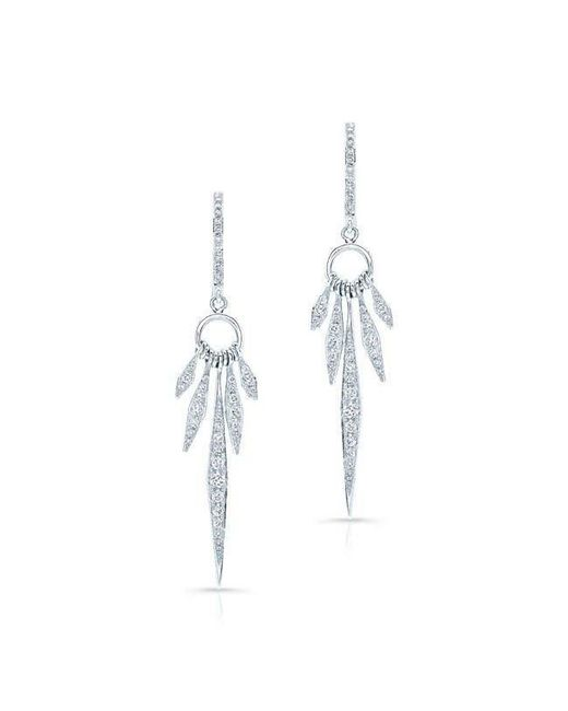 Anne Sisteron - Metallic 14kt White Gold Diamond Dream Catcher Earrings - Lyst