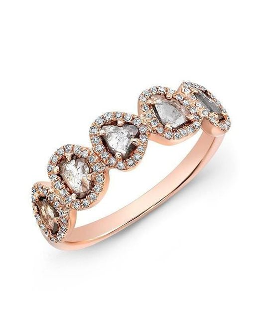 Anne Sisteron | Metallic 14kt Rose Gold Diamond Slice Princess Ring | Lyst