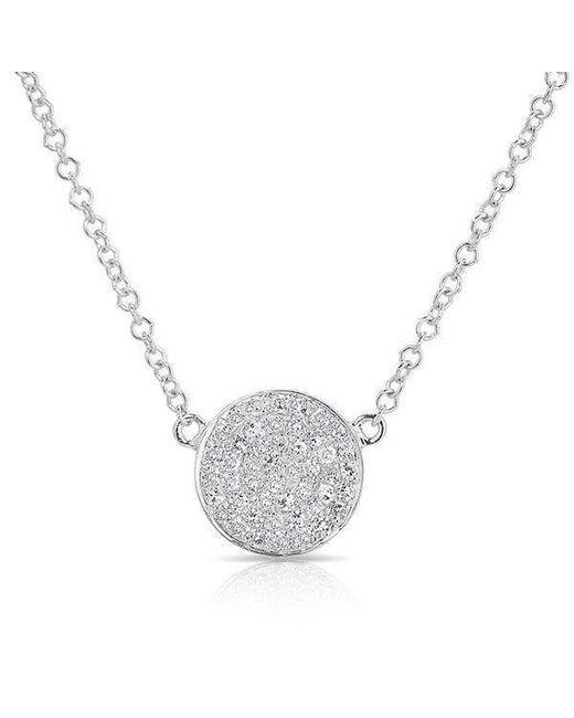 Anne Sisteron - Multicolor 14kt White Gold Diamond Small Disc Necklace - Lyst