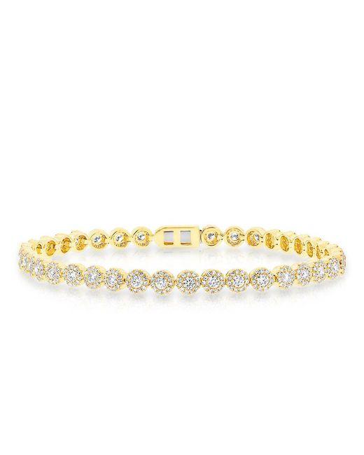 Anne Sisteron - Metallic 14kt Yellow Gold Diamond Love Collection Luxe Tennis Bracelet - Lyst