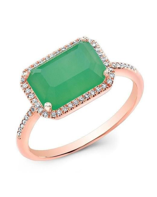 Anne Sisteron - Multicolor 14kt Rose Gold Chrysoprase Diamond Chic Ring - Lyst