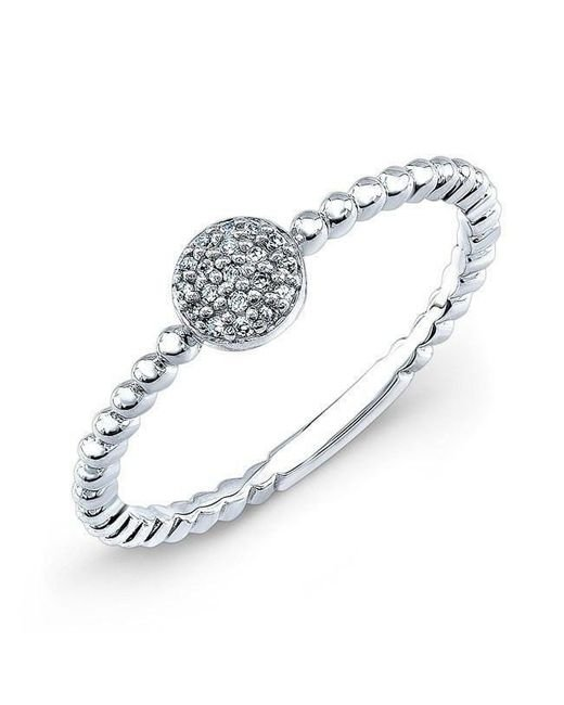 Anne Sisteron - Multicolor 14kt White Gold Safety Pin Wrap Diamond Ring - Lyst