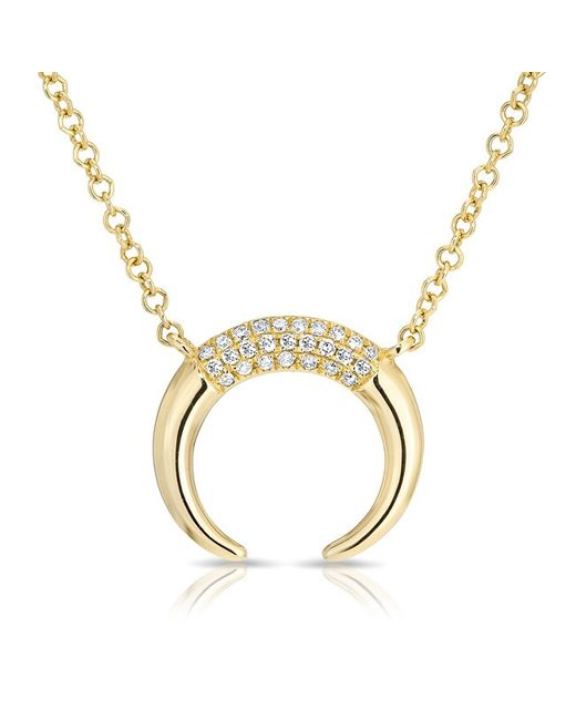 Anne Sisteron - 14kt Yellow Gold Diamond Mini Taureau Necklace - Lyst