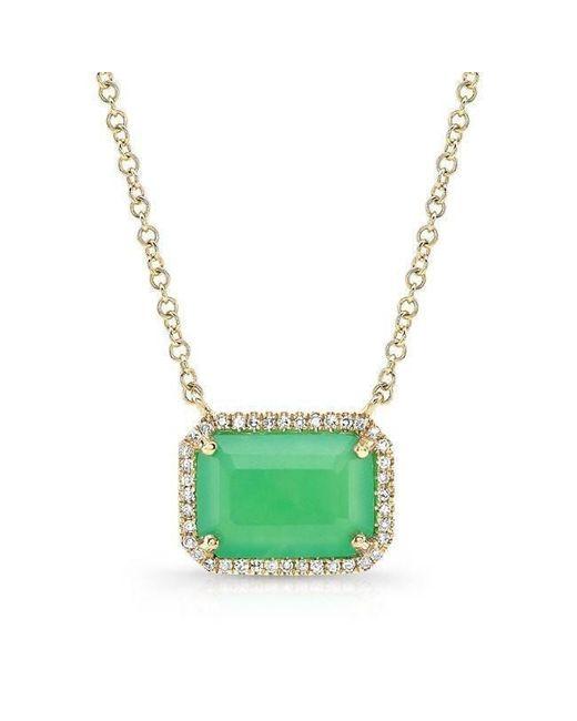 Anne Sisteron - Metallic 14kt Yellow Gold Chrysoprase Diamond Chic Necklace - Lyst