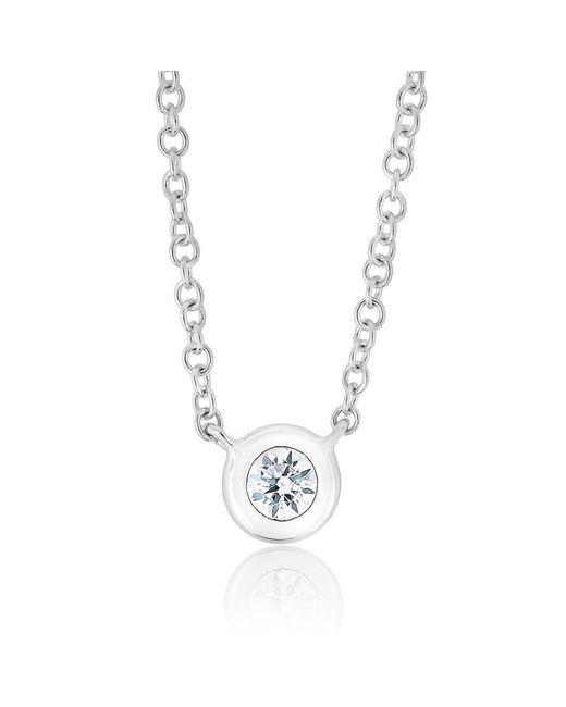 Anne Sisteron - Metallic 14kt White Gold Diamond Solitaire Necklace - Lyst