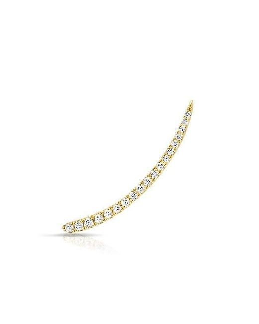 Anne Sisteron - Metallic 14kt Yellow Gold Diamond Lash Ear Climber - Lyst