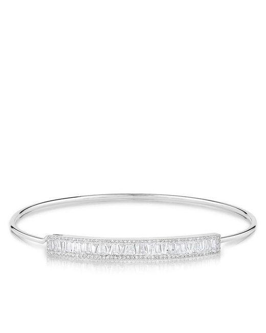Anne Sisteron - Metallic 14kt White Gold Diamond Baguette Latch Bracelet - Lyst