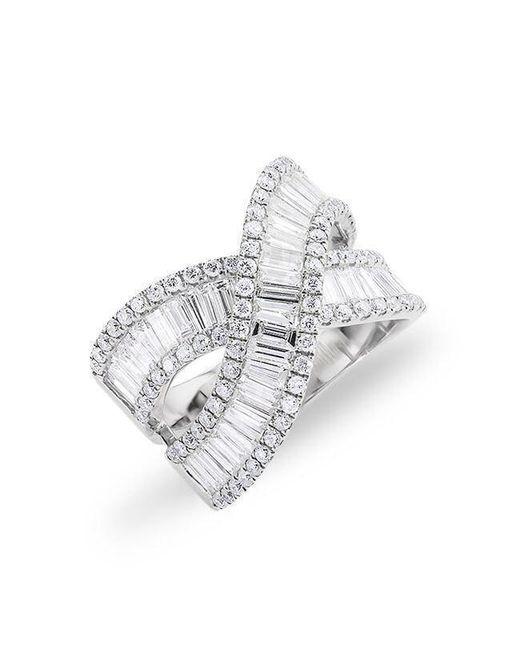 Anne Sisteron - Metallic 14kt White Gold Baguette Diamond Wrap Ring - Lyst