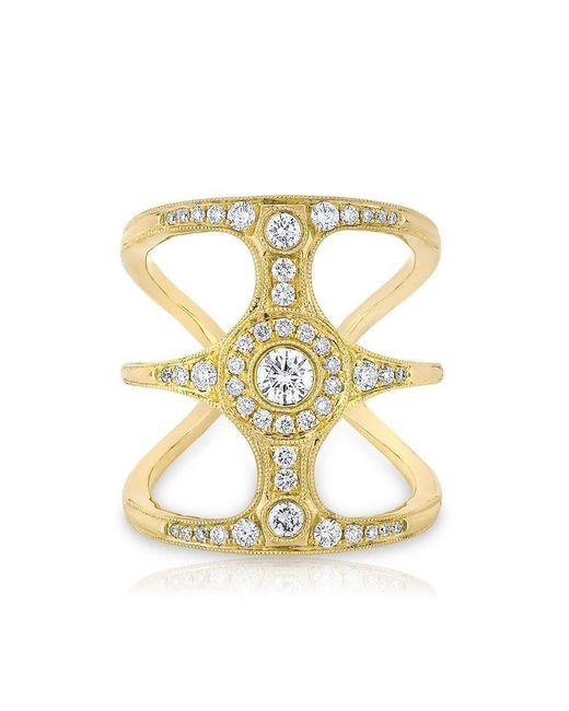 Anne Sisteron - Metallic 14kt Yellow Gold Diamond Ophelia Ring - Lyst
