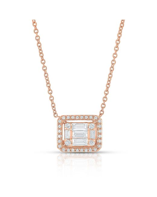 Anne Sisteron | Multicolor 14kt Rose Gold Baguette Diamond Rectangle Ryleigh Necklace | Lyst