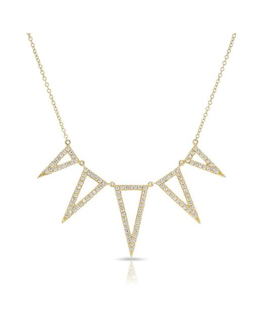 Anne Sisteron - Metallic 14kt Rose Gold White Topaz Diamond Spear Necklace - Lyst