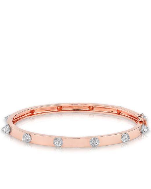 Anne Sisteron - Pink 14kt Rose Gold Diamond Extreme Punk Rock Bangle Bracelet - Lyst