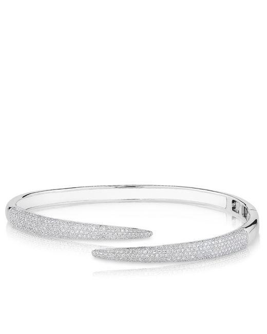 Anne Sisteron - 14kt White Gold Diamond Horn Wrap Bangle - Lyst