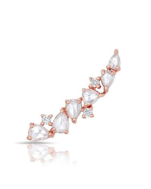 Anne Sisteron - Multicolor 14kt Rose Gold Diamond Cluster Ear Climber - Lyst