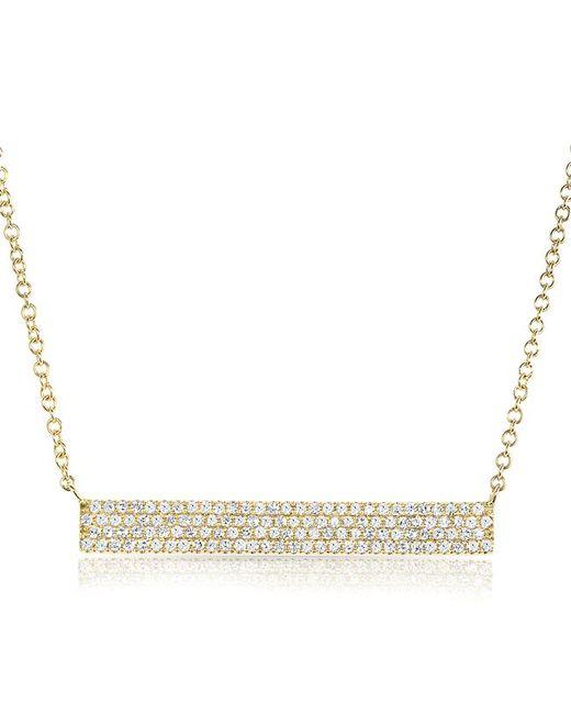 Anne Sisteron - Metallic 14kt Yellow Gold Diamond Long Brick Necklace - Lyst