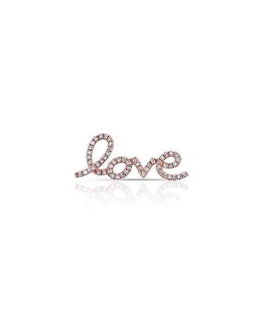 Anne Sisteron - Multicolor 14kt Rose Gold Diamond Love Ear Climber - Lyst