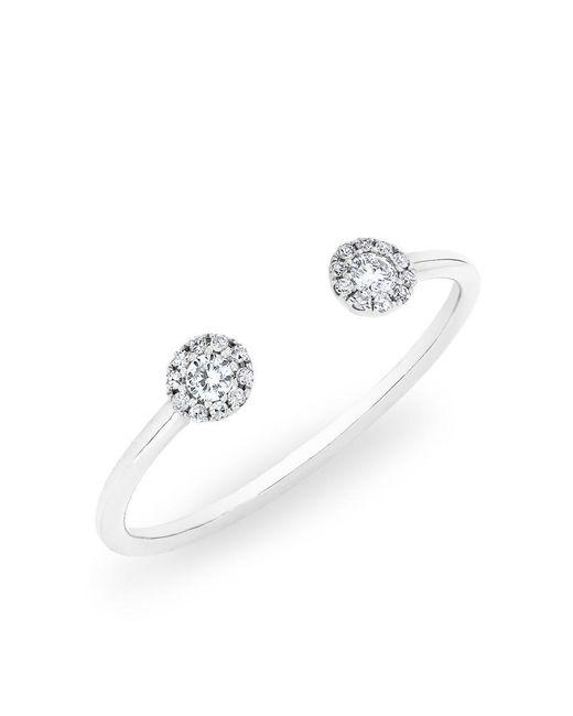 Anne Sisteron | 14kt White Gold Diamond Open Sally Ring | Lyst