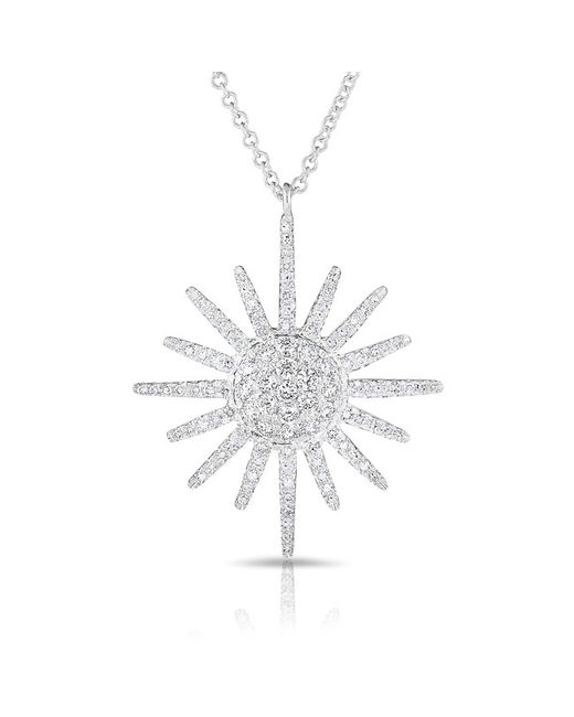 Anne Sisteron - 14kt White Gold Diamond Aurora Sun Necklace - Lyst