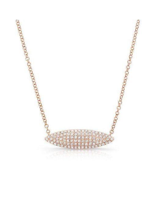 Anne Sisteron - Metallic 14kt Rose Gold Diamond Alana Necklace - Lyst