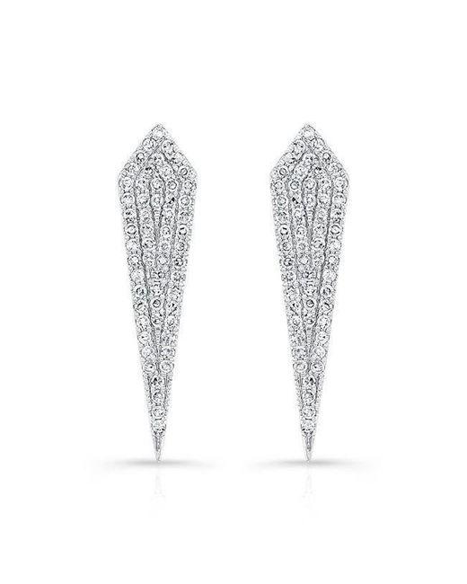 Anne Sisteron | Multicolor 14kt White Gold Diamond Mini Spear Earrings | Lyst