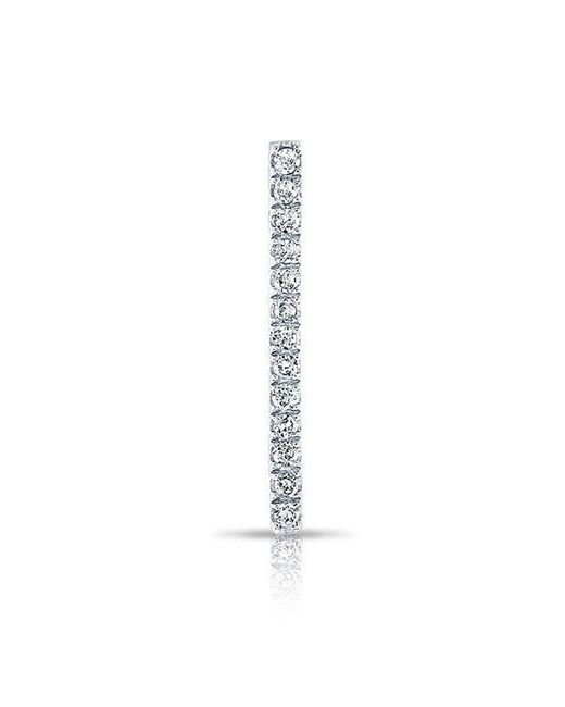 Anne Sisteron | Metallic 14kt White Gold Diamond Bar Ear Climber | Lyst