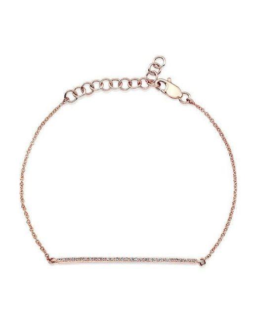 Anne Sisteron - Metallic 14kt Yellow Gold Diamond Bar Bracelet - Lyst