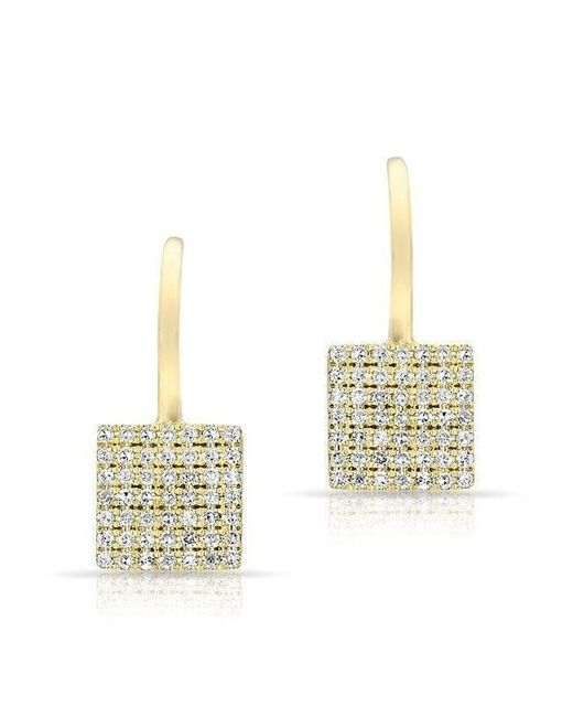 Anne Sisteron - Multicolor 14kt Yellow Gold Diamond Square Wireback Earrings - Lyst