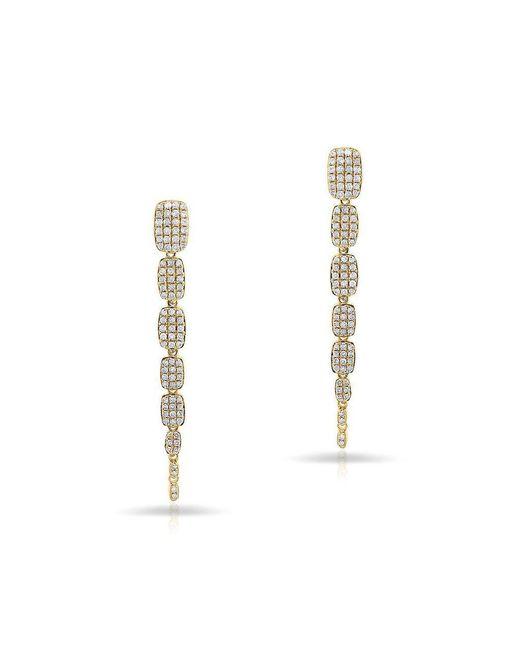 Anne Sisteron - Metallic 14kt Yellow Gold Diamond Small Sienna Earrings - Lyst