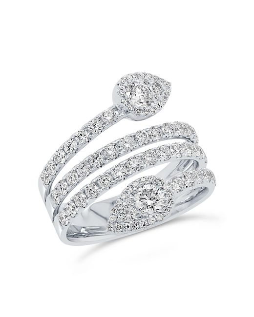 Anne Sisteron - Metallic 14kt White Gold Diamond Viper Ring - Lyst