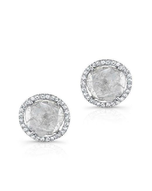 Anne Sisteron - Multicolor 14kt White Gold Diamond Slice Stud Earrings - Lyst
