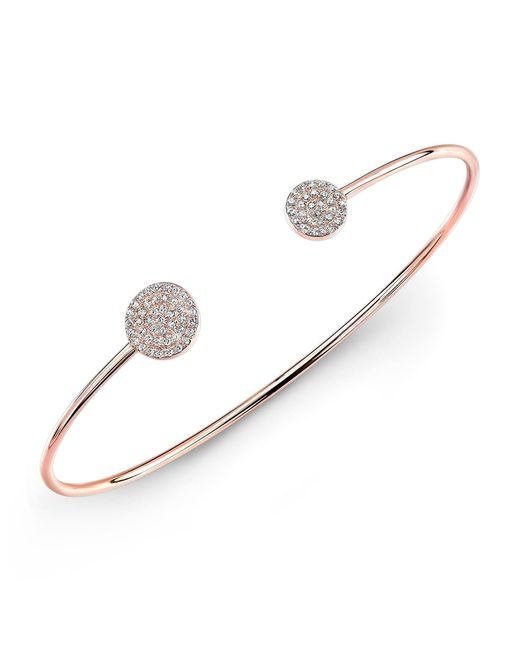 Anne Sisteron | Metallic 14kt Rose Gold Diamond Disc Cuff | Lyst